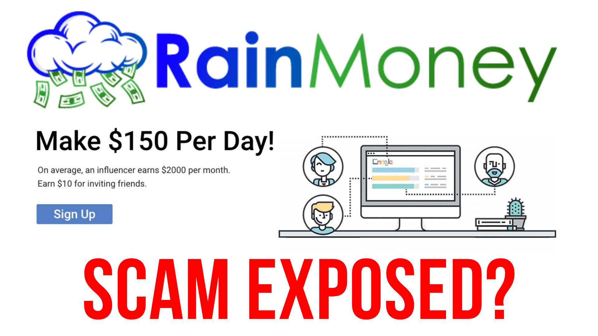 RainMoney [EXPOSED] SCAM? Legit Review of this Shady Website